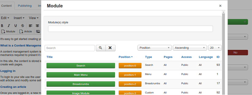 Joomla 3.5 New Features -Inserting Modules into Articles